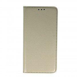 Etui boczne z klapką magnet book Huawei P10 Lite srebrny