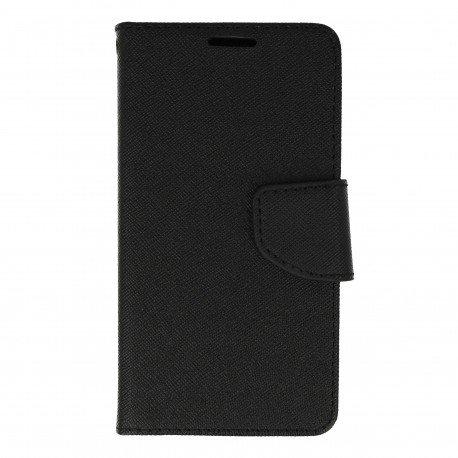 Etui portfelowe Fancy na telefon LG K3 czarny