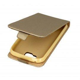 Etui z klapką Flexi do telefonu LG K3 złoty