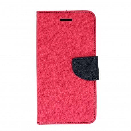 Etui portfelowe Fancy na telefon Huawei Honor 7 Lite różowy