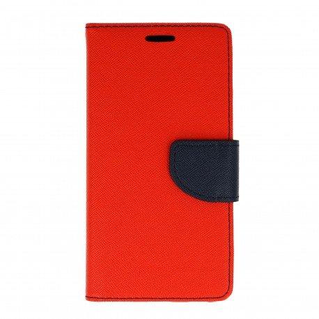 Etui portfelowe Fancy na telefon Huawei Honor 7 Lite czerwony