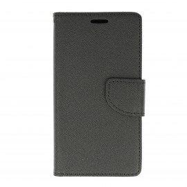 Etui portfelowe Fancy na telefon Huawei Honor 7 Lite czarny