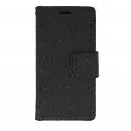 Etui portfelowe Fancy na telefon Huawei P10 Lite czarny