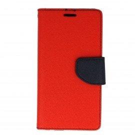 Etui portfelowe Fancy na telefon Huawei P10 Lite czerwony