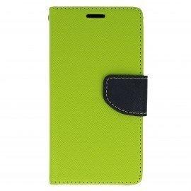 Etui portfelowe Fancy na telefon LG G5 H850 limonka