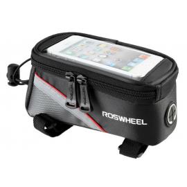 Sakwa uchwyt rowerowy na telefon/smartfona 4.8-5.0 cali czarwony