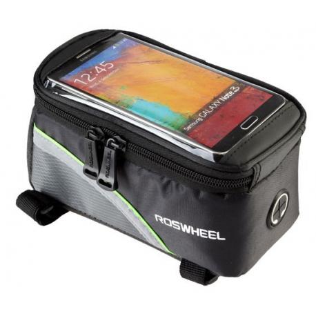 Sakwa uchwyt rowerowy na telefon/smartfona 4.8-5.0 cali zielony