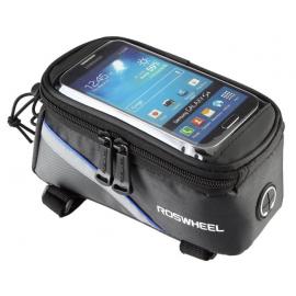 Sakwa uchwyt rowerowy na telefon/smartfona 5.2-5.7 cali niebieska