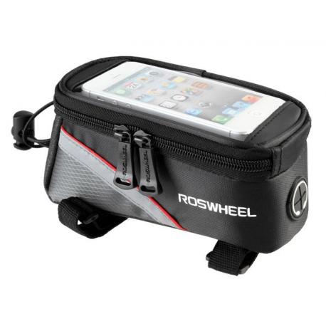 Sakwa uchwyt rowerowy na telefon/smartfona 5.2-5.7 cali czarwony