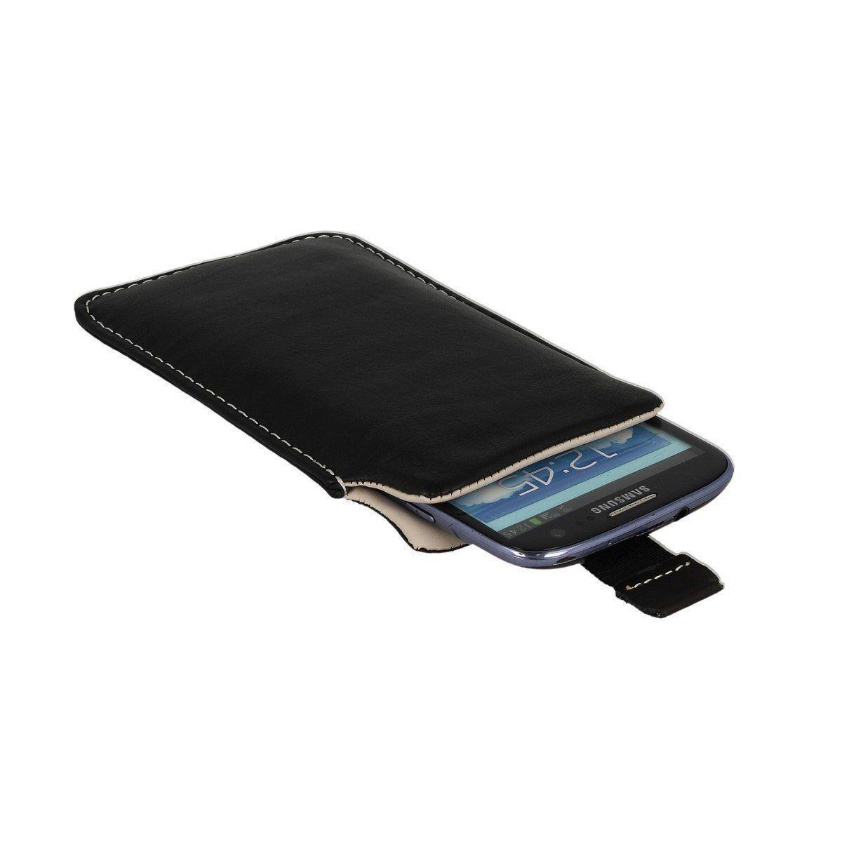 e412fdaa80147 Etui wsuwka skórzana De Lux na telefon Huawei P20 Lite. Model  - Produkt  Polski - Skóra naturalna - Starannie obszyty - Funkcja Pull Up